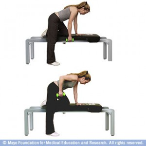 row with weights